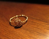 Twisted & Wrapped Rose 14k Gold Ring All Sizes