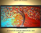 RESERVED for HEATHER Original Large Abstract Painting Modern Contemporary Canvas Art 48x24 Texture Oil by J.LEIGH
