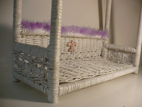 White Bamboo- Rattan Wall Display Shelf