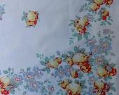 Vintage Peach Fruit Tablecloth