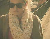 the Infinity scarf in light cream