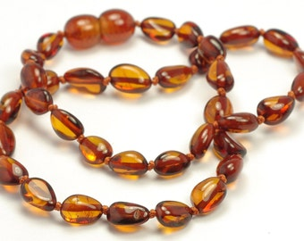 Amber Teething Necklace, Genuine Baltic Amber