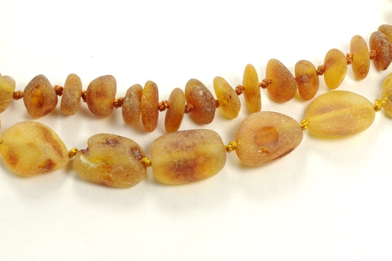 Set Of Raw Unpolished Baltic Amber Baby Teething And Mommy Necklace 502
