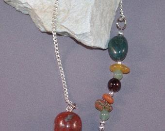 Red Jasper, Bloodstone, Aventurine and Ladybug New Age Dowsing Pendulum 124952P