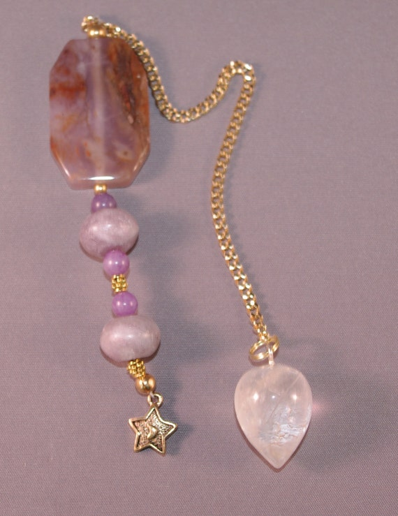 Quartz Crystal and Star New Age Dowsing Pendulum 113965P