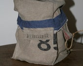 Storage bag made of vintage dutch post office bag
