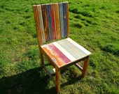 SOLD SOLD Hand made reclaimed wood chair. Painted and distressed. SOLD