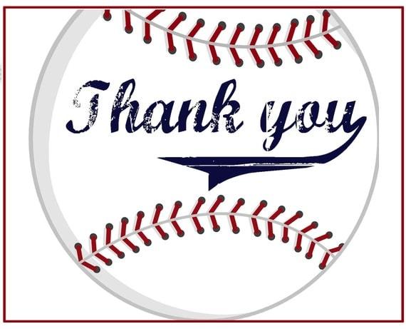 Items similar to Baseball Thank you Cards on Etsy