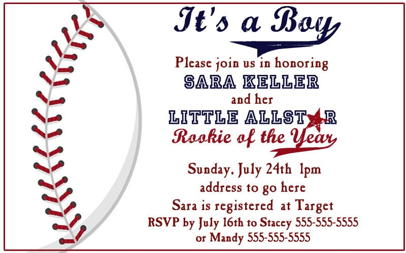 items similar to baseball baby shower invites on etsy