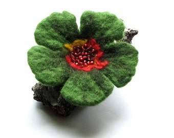 Felt  BROOCH - Felted flower brooch - Hand felted flower brooch  - Gift for her - Unique gift - Gift ideas - Holiday gift