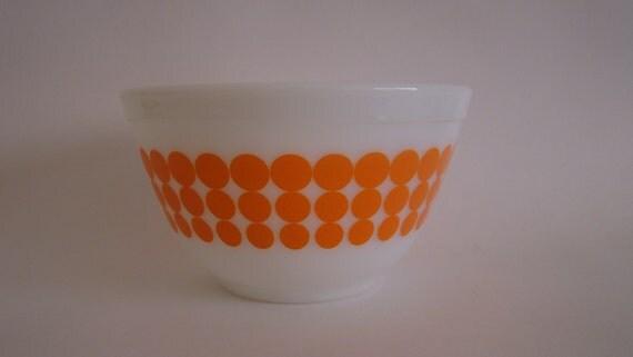 Pyrex Orange New Dots 401 Mixing Bowl