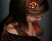 Glittering Headband with Tribal Belly Dance Medallions, Made to Order