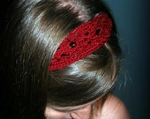 """The """"Lovely Lace"""" Knit Headband, Made to Order"""