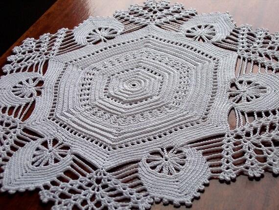 Irish Crochet Hexagon Doily, By Artistic NeedleWork