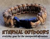 Survival Bracelet, Standard Camo and Desert Camo
