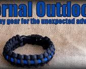 The Thin Blue Line Bracelet