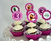 PARTY CIRCLES PRINTABLE - Rapunzel Birthday Party - Whistle While You Work by AMPmarket