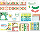 FULL PRINTABLE PARTY- Sports Party Package - Whistle While You Work by AMPmarket