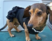 Dog Cocktail Dress - Black with Pearls