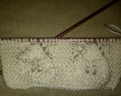 Private Listing for Mrs. Smith - Falling Leaves & Eyelets Scarf (Ivory)