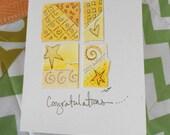 "Congratulations Card ""Shades Of Light"" Original Art  Blank With Envelope betrueoriginals"