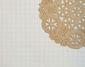 Taupe Beige Khaki Paper Doilies Set of 10-Diy Kit