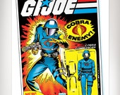 G.I. Joe COBRA COMMANDER Action Figure Cobra Pop Art Print 11x17 by Rob Osborne