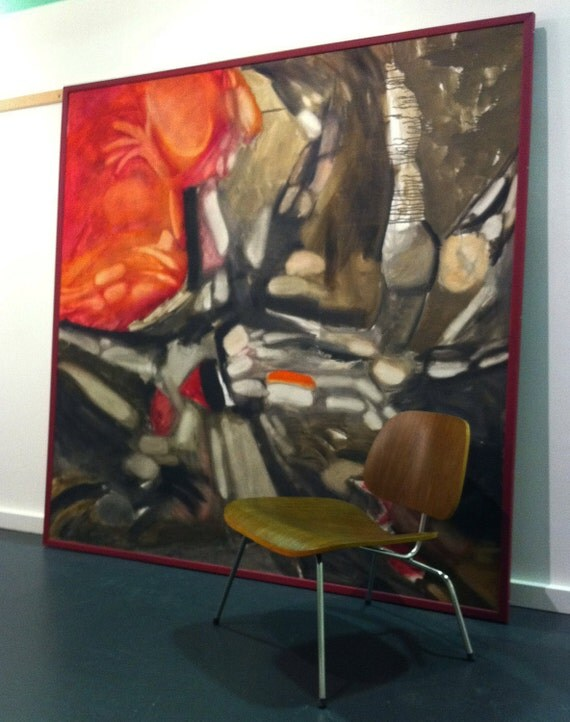 MASSIVE Mid Century Modern Painting by William Wareham