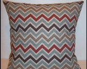 Zoom Zoom Nile Denton Zig Zag Chevron Home Decor Fabric-FREE US SHIPPING-Premier Prints-Sofa Cushion Cover- Accent Pillow-Throw Pillow