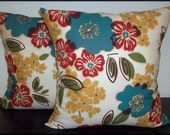 Single Pillow Cover 16x16 inch -Free US Shipping - Magnolia Home Fashions Sydney Tropic