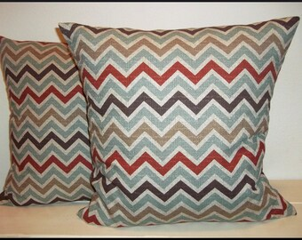 Nile Denton Zoom Zoom Zig Zag Chevron Pillow Cover-Home Deocr-FREE US SHIPPING-Premier Prints-Sofa Cushion Cover- Accent Pillow-Throw Pillow
