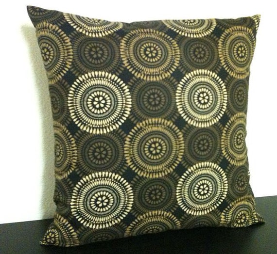 Set of 2 Pillow Covers 16x16 inch - Free Shipping-Neutral colors Tan Brown--