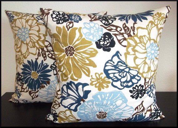 2 Pillow Covers 20x20 - Free Shipping - Richloom Invigorate Home Decor Fabric