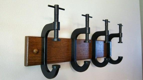 C-Clamp coat rack