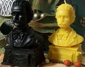 Strauss Bust Beeswax Candle Composer Series