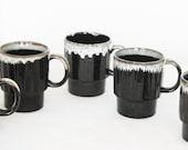 Brown Drip Glaze Ceramic Coffee Cups