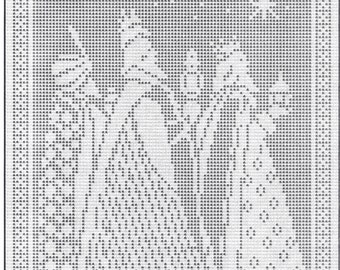 Filet Pattern for Three Kings filet