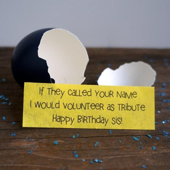 Birthday Gift Sister.. Cool Birthday Gift.. Birthday Gift for Her.. The Hunger Games Birthday Gift