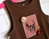 SALE--4T girls Tank-Top with patch-Pretty Little Skull