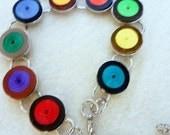 Rainbow Bracelet, Jewelry, , Eco Friendly Jewelry,  Friendship Bracelet, Unique Jewelry, Gift Idea