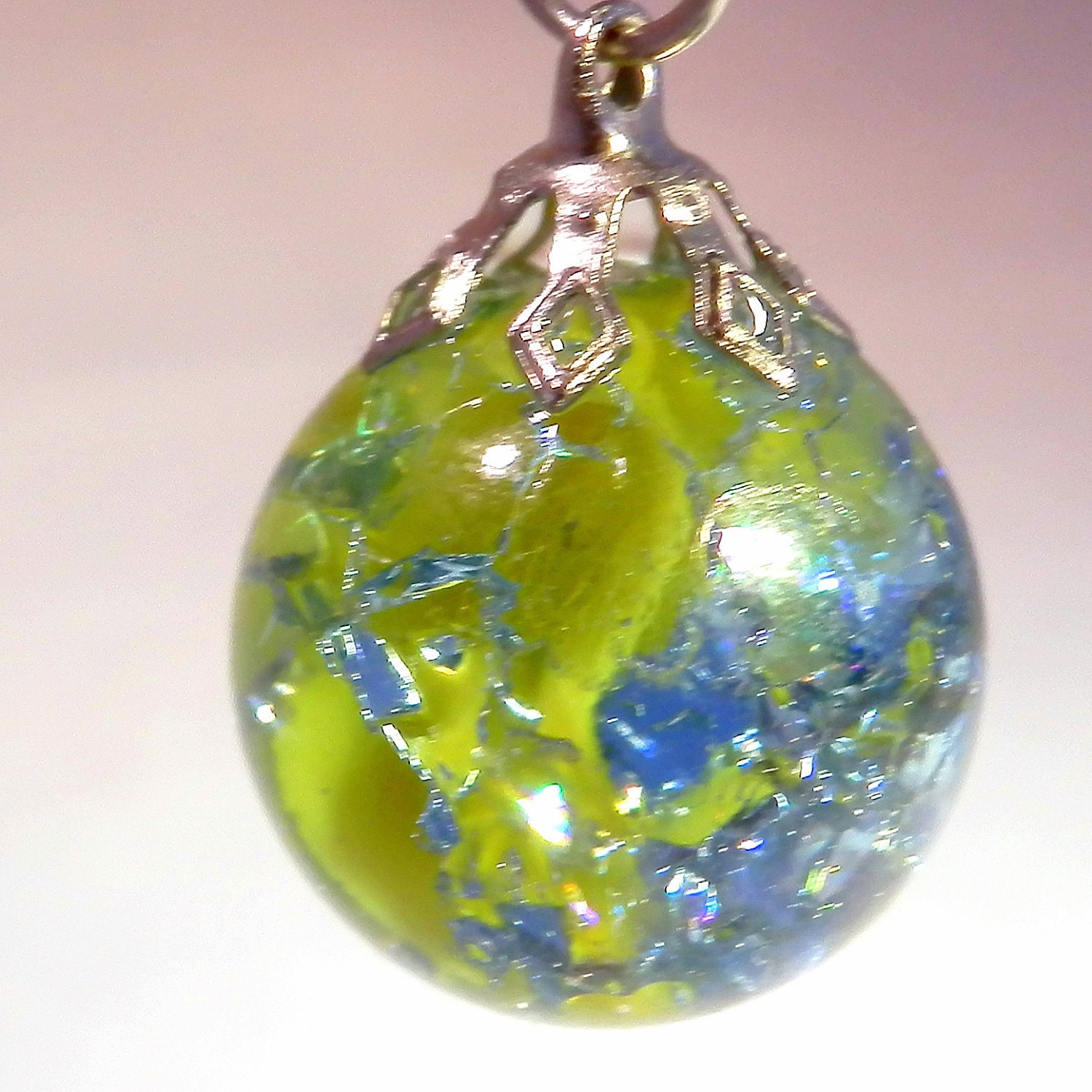 Fried Marble Pendant And Necklace Jewelry Pendant