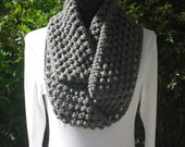 Infinity Eternity Cowl Neck Warmer Scarf True Grey