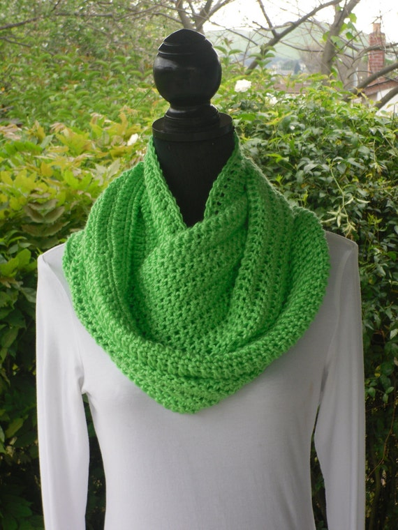 Infinity Eternity Cowl Neck Warmer Circle Scarf Limelight