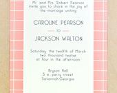Modern Comtemporary Invitation Cards- Jackson