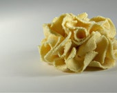 Yellow Sweater Flower Pin/Hair Clip, Accessory, Repurposed