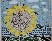 Stained Glass Sunflower Mosaic
