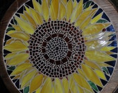 Stained Glass Sunflower Wall or Table Art Mosaic