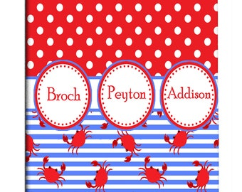 Custom Shower Curtain Personalized - Crabs