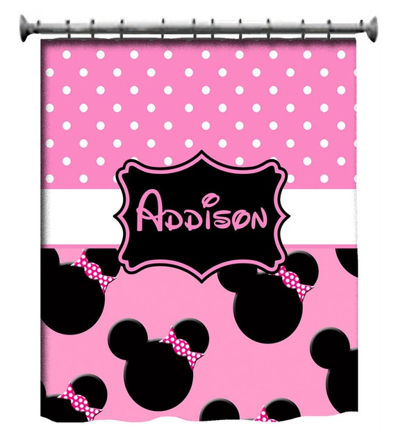 Custom Mouse Inspired Shower Curtain Personalized by 3psinapod2011