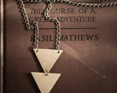 Brass Triangle Necklace.